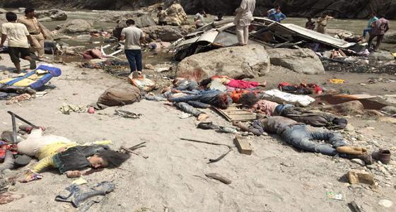 किसी का सिर ,किसी का हाथ जुदा था जिस्म से,तिंयूणी गांव मातम में,जहां तक नजर गई केवल लाशें थी