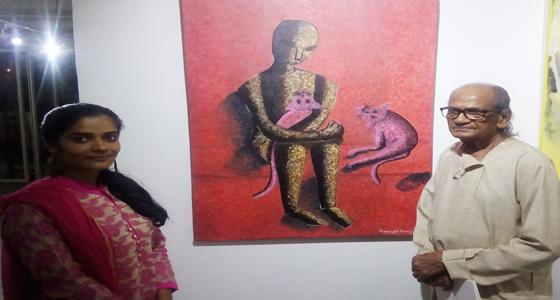गीताजंली वर्मा की पेंटिंग को पदम भूषण राम वी सुतार के हाथों 'आर्ट वैली अवार्ड,' 10 हजार का चेक