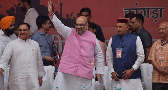 हुंकार रैली में BJP से CM प्रत्याशी का एलान नहीं, शाह का CM वीरभद्र पर हमला तो CM पिता- पुत्र ने याद दिलाया गोधरा