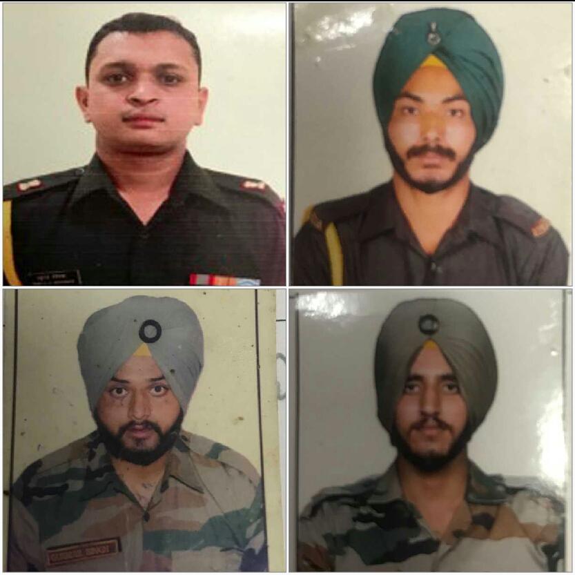 जम्मू में मेजर और तीन जवान शहीद