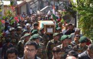 शहीद हवलदार जोरावर सिंह को अश्रुपूर्ण विदाई