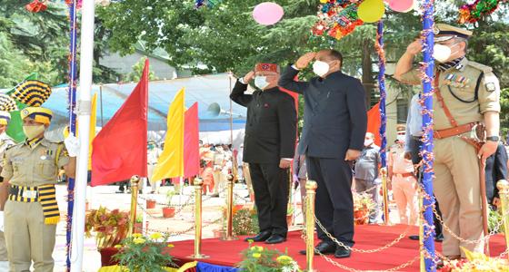 74वेें स्वतंत्रता दिवस पर CM जयराम ठाकुर ने फहराया तिरंगा,शहीदों को नमन
